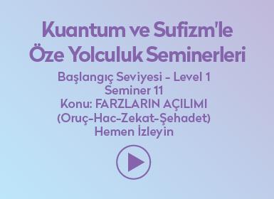 Kuantum ve Sufizm ile Öze Yolculuk Başlangıç Seviyesi / Level 1 / Seminer 11