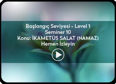 Kuantum ve Sufizm ile Öze Yolculuk Başlangıç Seviyesi / Level 1 / Seminer 10