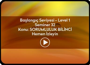 Kuantum ve Sufizm ile Öze Yolculuk Başlangıç Seviyesi / Level 1 / Seminer 32